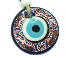 Turquía Nazat boncuk 9cm colgaduras largo 25cm vidrio remolque decorativas Evil Eye nz28a