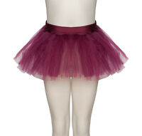 Pink,Black,Purple,Blue,Red,Orange,Green,White,Yellow Soft Tutu Skirt All Ages