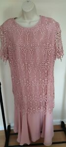 Gina Bacconi Women's Dress Size 18 Lace Bodycon Wedding Party Dress           A