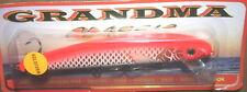 "6"" Grandma Lure Classic Crankbait Musky Pike Gold Holo Hot Orange Back GH6-34"