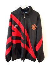 Manchester United Jacket Coat. Umbro. Black Adults Man Utd Long Sleeves.