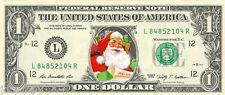Santa Claus #1 Christmas {Color} Dollar Bill - REAL Money! Stocking Stuffer!