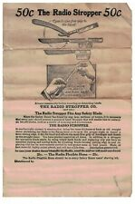 Early 1900s Advertising Flyer for Radio Stopper Saftey Razor Sharpener