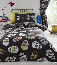Sugar Skulls Mexican Day Dead King Size Duvet Cover & Pillowcase Set