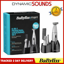 BaByliss Mens 6-in-1 Grooming Shaving Trimming Kit for Ear, Nose, Beard, Eyebrow