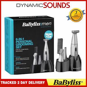 BaByliss Mens 6-in-1 Grooming Shaving Trimming Kit for Ear, Nose, Beard, Eyebrow