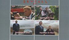 James BOND 007 Daniel Craig SKYFALL TCHAD 2015 MNH STAMP SHEETLET