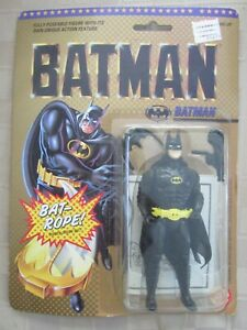 1989 BATMAN FULLY POSEABLE ACTION FIGURE W/BAT-ROPE BY TOY BIZ