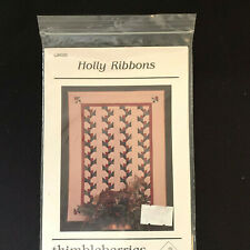 Holly Ribbons Quilt Pattern Thimbleberries Uncut