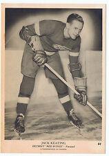 1939-40 O-Pee-Chee V301-1 Jack Keating # 67 Detroit Red Wings (5 x 7 card)