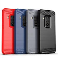 Motorola Handyhülle Cover TPU Case Schutzhülle Handy Bumper Carbon Optik Schale