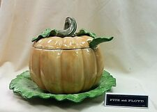 FITZ & FLOYD PUMPKIN TUREEN & PLATTER *NEW IN BOX*