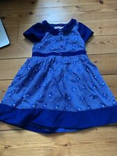 Cath Kidston Girls Blue Bow Dress Age 3-4 Years