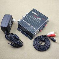 700W 12V Mini Hi-Fi Stereo Digital Amplifier mp3 iPod home + Power + audio cable