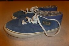 Vans Syndicate Half Cab Vintage Shoes Blue Suede sz 10.5