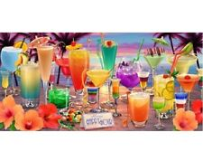New Happy Hour Mixed Drink Margarita Beach Bath Pool Gift Towel Beach Party Luau