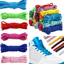 Kids Adults 6mm Wide Half-Round Shoe Laces Pair Short Long Trainers Shoes Boots