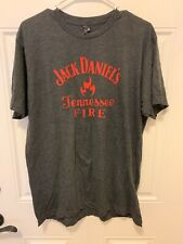 Jack Daniels Tennessee Fire T Shirt L Whiskey Liquor Beer Bar Man Cave