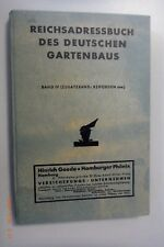 Reichs- Adressbuch des Deutschen Gartenbaus  1935 /Werbung 1.Ausgabe Berlin