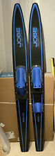Jobe Beeline Water Skis Blue 66'' V.G.  preowned Condition Needs 1 Squeeze Heel