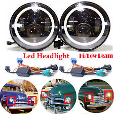 "2Pcs 7"" Inch Led Headlight DRL Bulbs Lamp For 1947-1957 CHEVY GMC PICKUP Truck"