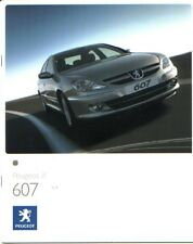 PEUGEOT 607 BROCHURE 10/2006 + SPECIFICATION BOOKLET