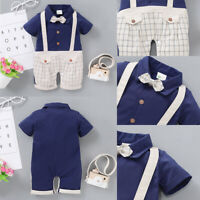 ❤️Newborn Infant Baby Boy Gentleman Clothes Romper Bodysuit Jumpsuit Outfits Set