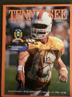 Peyton Manning 1996 SIGNED Tenn vs Florida Football Program