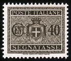 REGNO D'ITALIA - SEGNATASSE - STEMMA SABAUDO CON FASCI - Cent. 40 Grigio Bruno