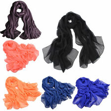Unbranded Polyester Patternless Scarves & Shawls for Women