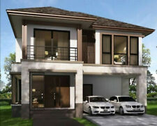 Custom Tiny House Home Building Plans 3 Bedroom 3 Bathroom With Garage & CAD Fil