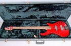 Pedulla Thunderbolt T-4352 4 String Red Solid Electric Bass Guitar in Case for sale
