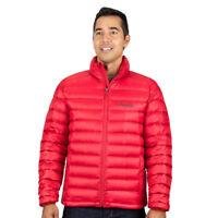 Mens Marmot Lightweight Azos Front Zippered Warm Down Jacket in Red XXL + Tags