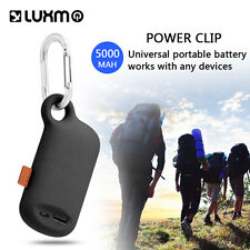 Camper Keychain Phone Charger 5000mAh Portable Power Bank Battery w/ Clip & USB