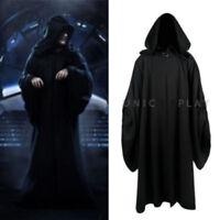 Star Wars Emperor Palpatine Darth Sidious Robe Cosplay Costume Black