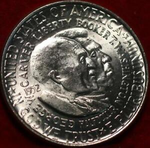 Uncirculated 1952 Philadelphia Mint Washington/Carver Silver Comm Half