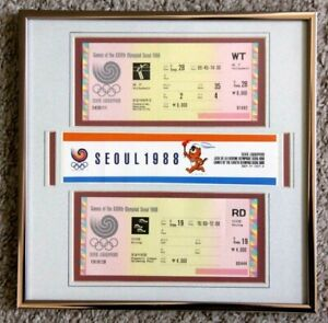 1988 SEOUL OLYMPICS - DIVING - VOLLYBALL TICKETS