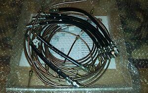BMW E30 3 series 316 318 320 325 kunifer brake pipes with rubber brake hoses