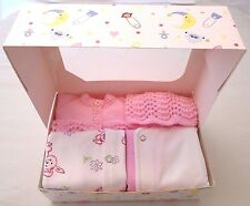 3-5lbs Premature Baby Tiny Girls Clothes Pink Sleepsuit Vest Hat Cardigan Bunny