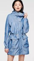 G-star Atlanta Chambray Parka Blue Coat Ladies Size UK L *REF57
