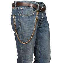 Solid Brass Wallet Chain Cable Biker Trucker KeyRing Jean Retro Snap Hook