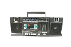 Vintage SONY CFS-5000 AM/FM Stereo Cassette-Corder Ghetto-Blaster Boombox EUC!