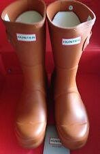 Unisex Orange/Iron Oxide Hunter Original Short Wellies Size UK 7/Eu 41 New