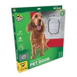 Hakuna Pets ULTRA CLEAR PET DOOR 4-Way Locking Flap *Aust Brand- Small Or Medium