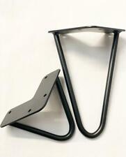 Singular Black metal hairpin furniture legs