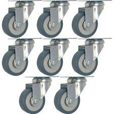 8 Pack 2 Inch Heavy Duty Swivel Wheel Polyurethane Plate Caster