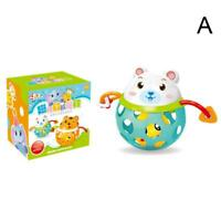 Baby Rattles Hands Shake Toys Intelligence Grasping Education Music Animal Q0C2