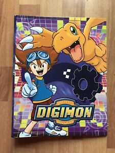 Rare Original Vintage Digimon cards folder Ring Binder 2000