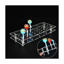 MENGCORE 25 Hole Acrylic Cake Pop Lollipop Display Stand Holder for Weddings NEW