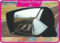 Hyundai i30 N logo  autocollant stickers X 2 - Film crystal dépoli